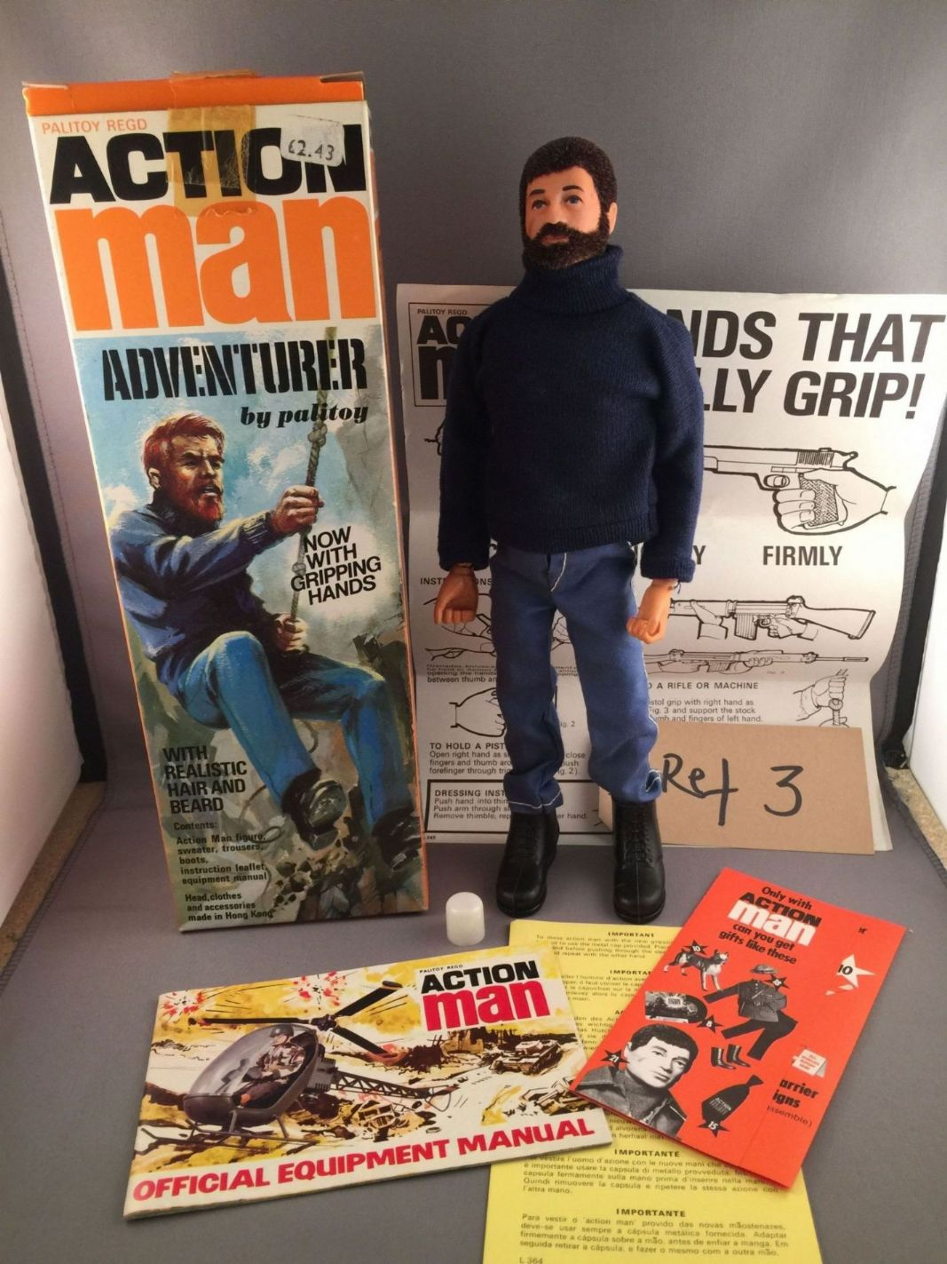 Action Man Adventurer 1973 Boxed Complete And