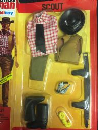 Action Man Scout Cowboy Uniform Carded Near Mint Old