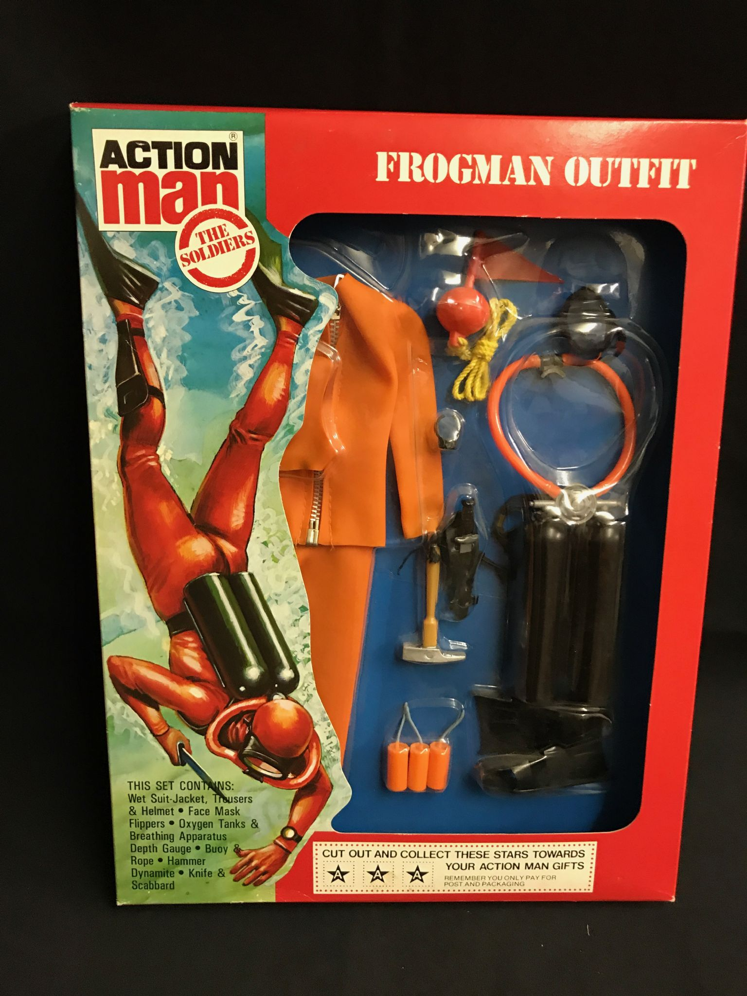 Vintage Action Man Orange Frogman The Soldiers Series Card