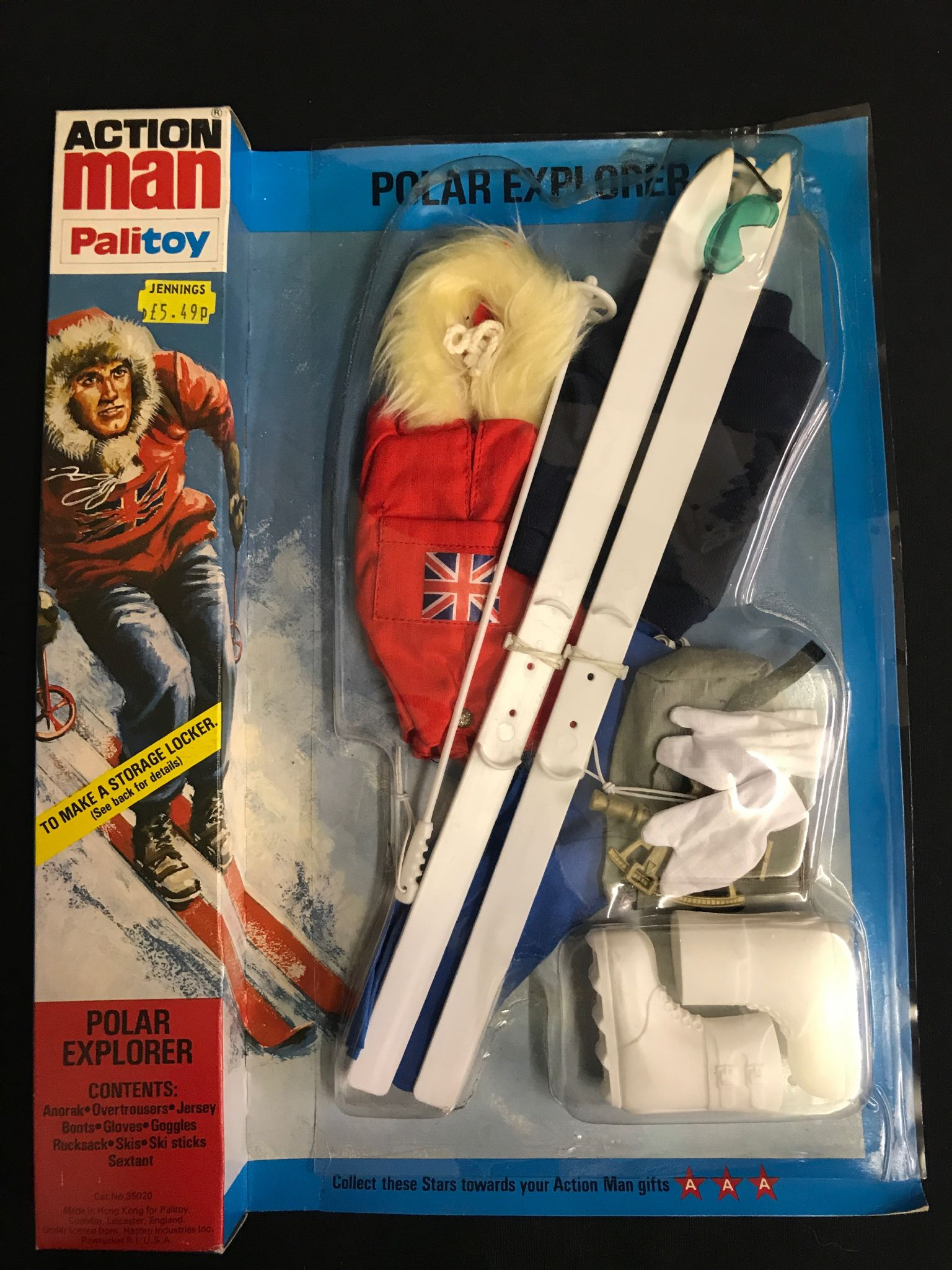 Vintage Action Man Polar Explorer Rare Variant Locker