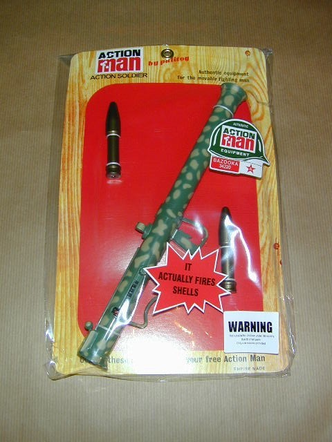 ACTION MAN - BAZOOKA with Shells  - Carded