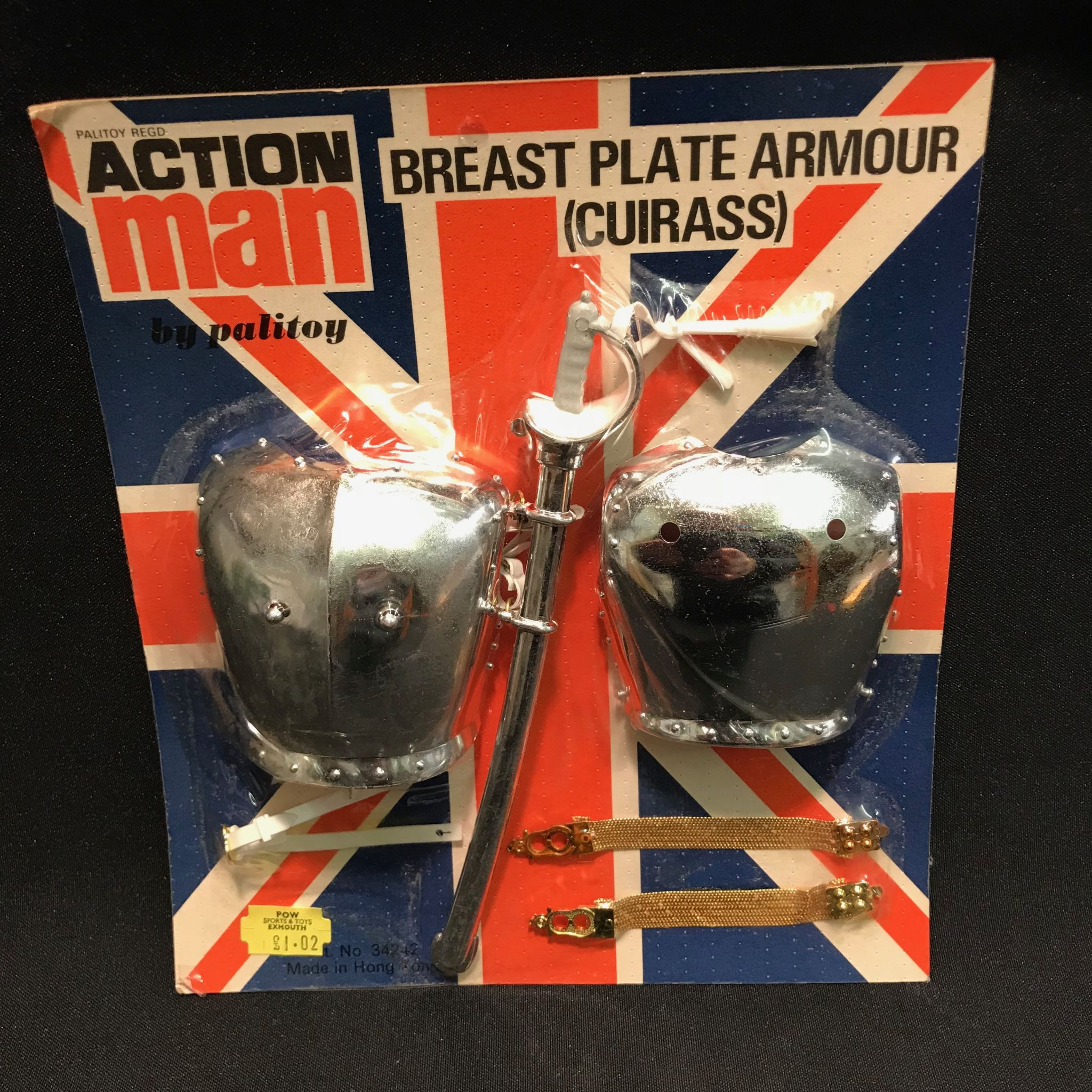CUIRASS FOR LIFEGUARD ETC VINTAGE ACTION MAN 40th CARDED BREAST PLATE ARMOUR