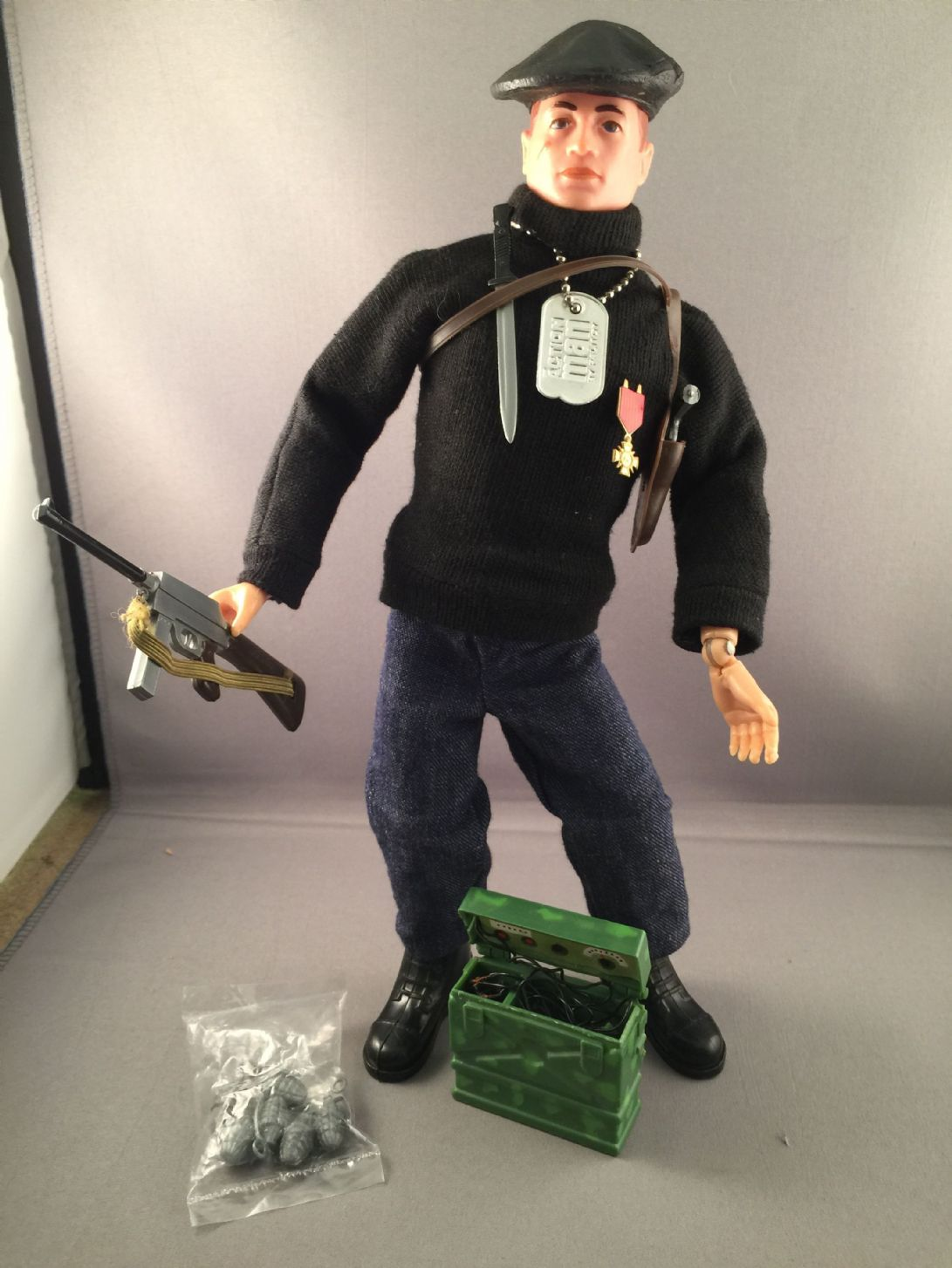 VINTAGE ACTION MAN - FRENCH RESISTANCE FIGHTER - 1960 s