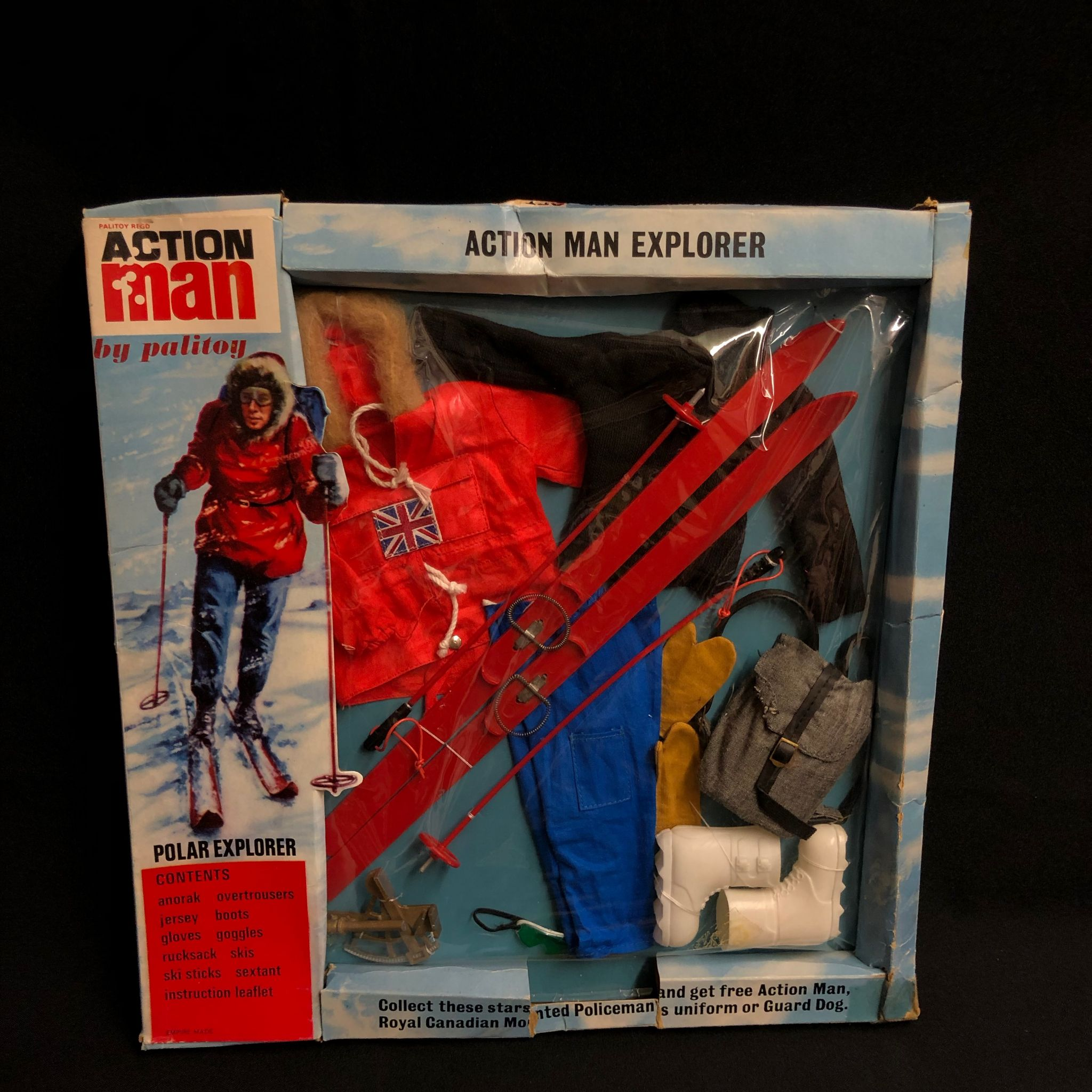 Vintage Geyper man Polar explorer backpack 1//6th scale toy accessory